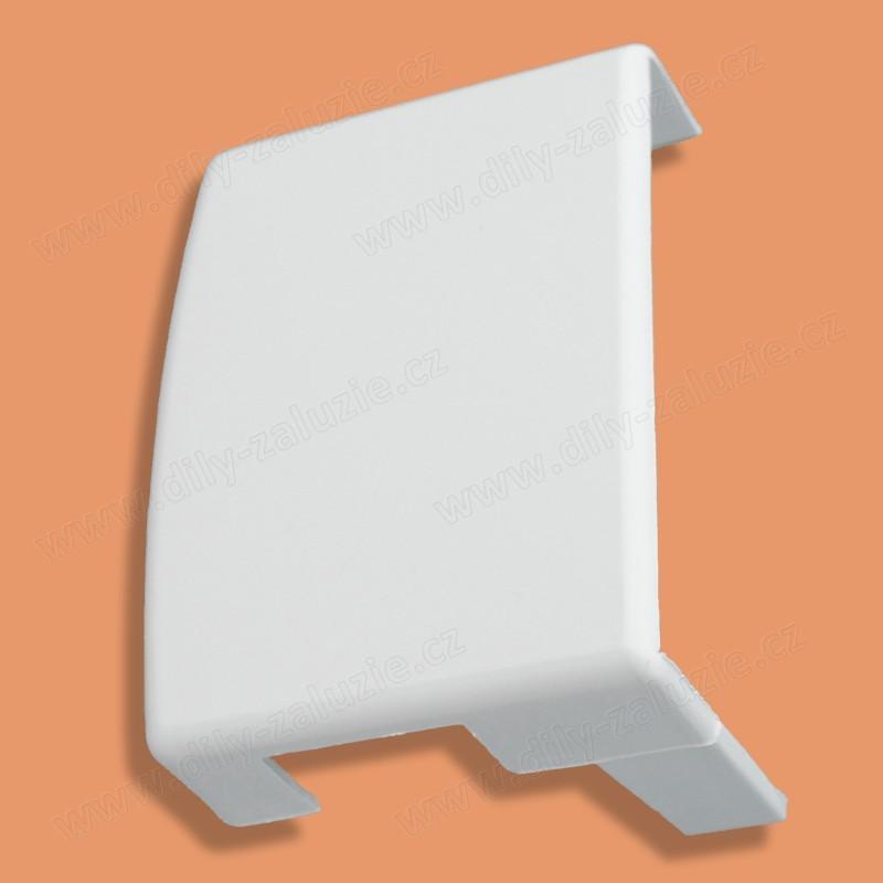 Kryt horního profilu žaluzie Isoline ISSO. Zakrývá levý horní převod / uchycení žaluzie.