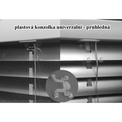 Plastová průhledná konzolka první lamely žaluzie