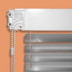 Krytka boků horního profilu žaluzií Climax IDK. Kryje levý převod řetízku / uchycení žaluzie.