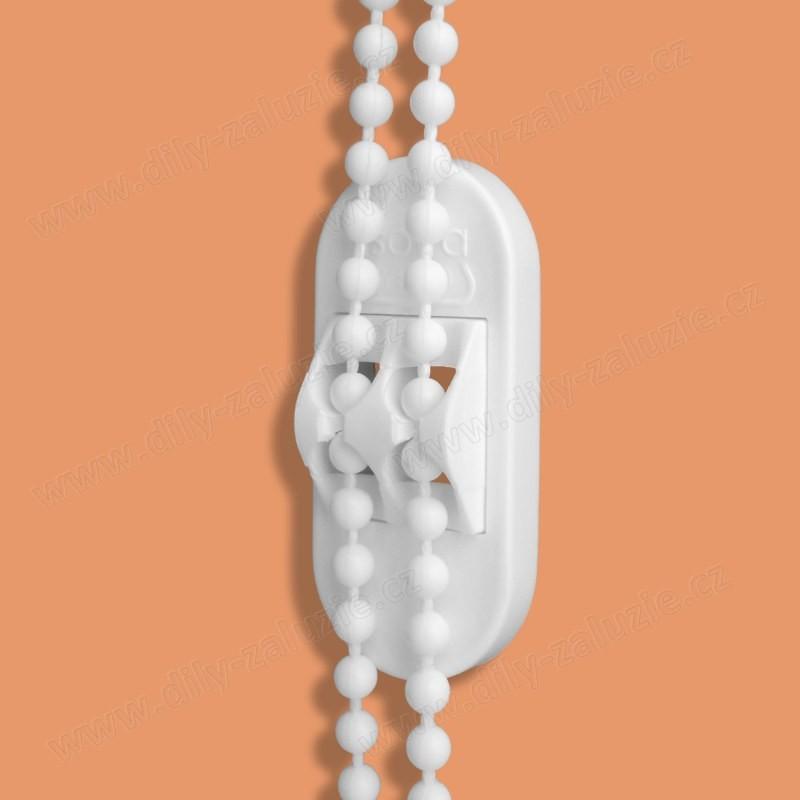 Univerzální úchytka kuličkového řetízku žaluzií - držák ovládacího řetízku žaluzií.