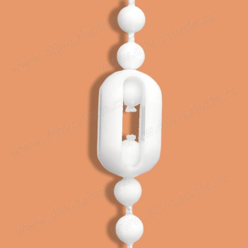 Spojka ovládacího řetízku žaluzií - klecová spojka kuličkového řetízku žaluzie.