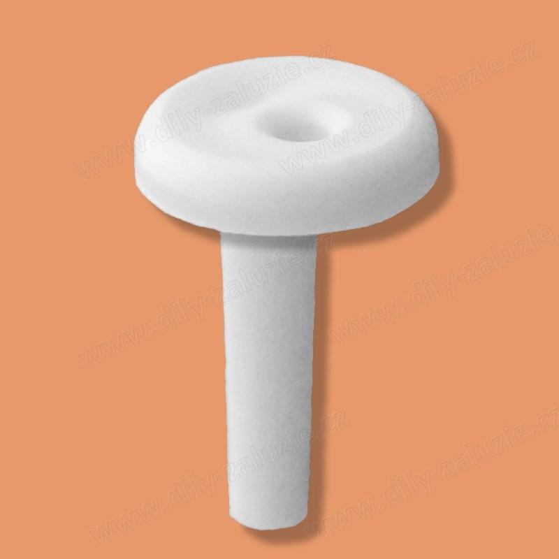Kolíček pro spodní zajištění boční vodící struny / silonu struny žaluzie